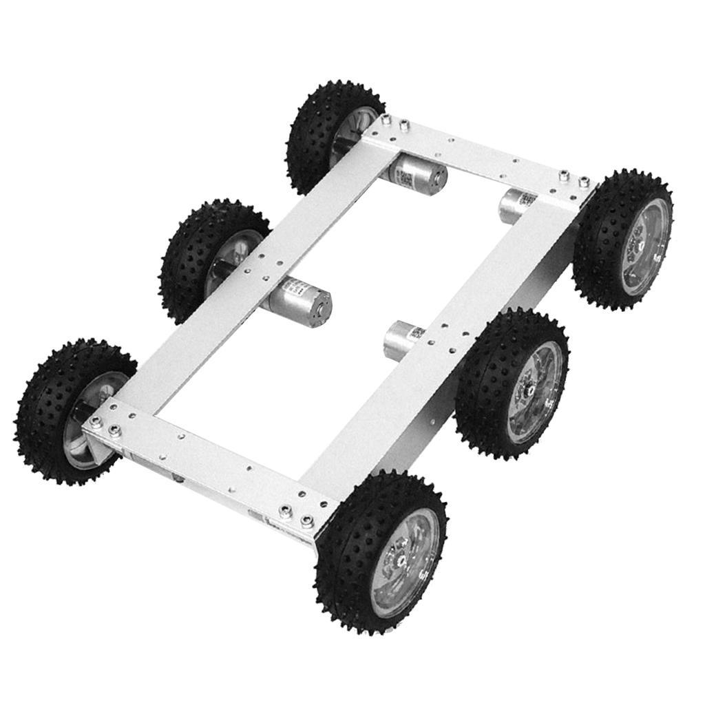 6WD Smart auto Tank Chassis Kit Mechanism Mechanism Mechanism Kit DIY Robot with 12V 330rpm Motor ac496e