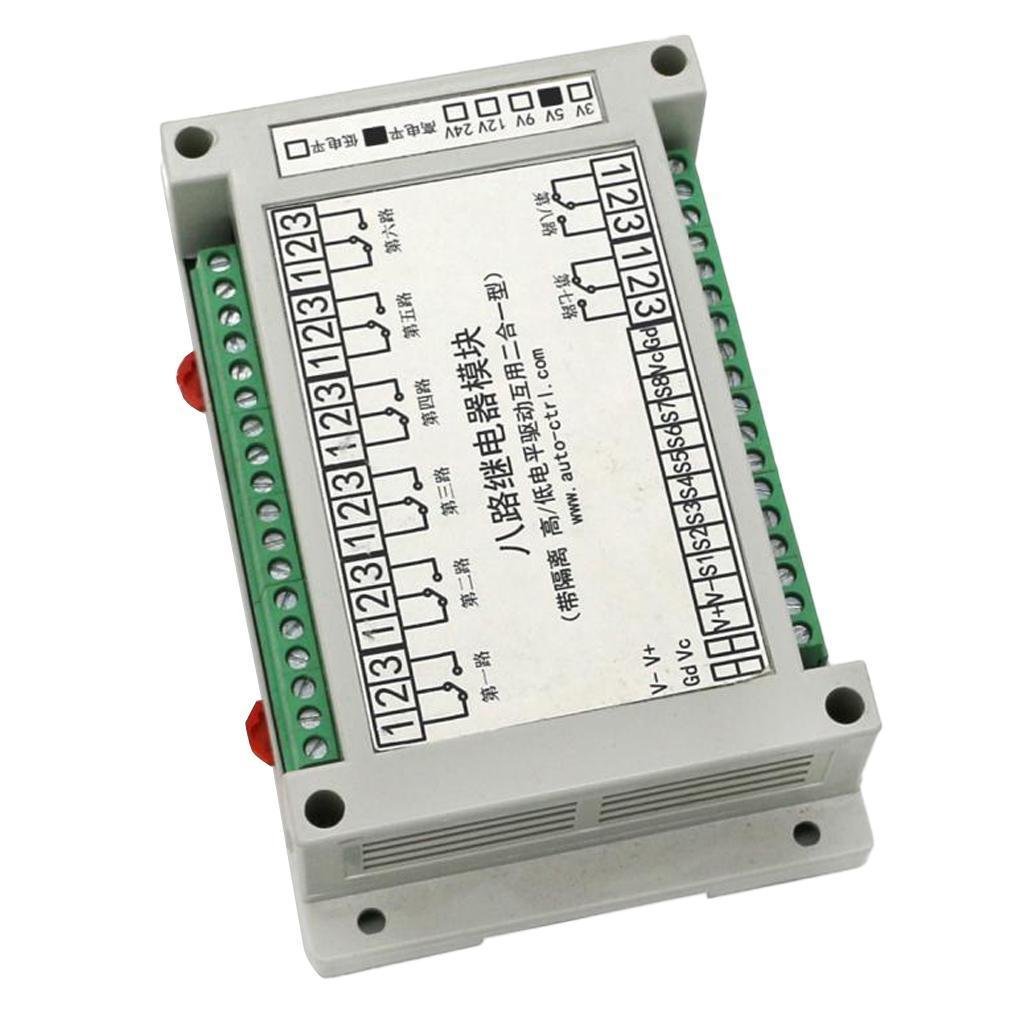 8-Channel-Isolation-3-5-12-24V-Relay-Board-Module-Optocoupler-High-amp-Low-Level miniature 4