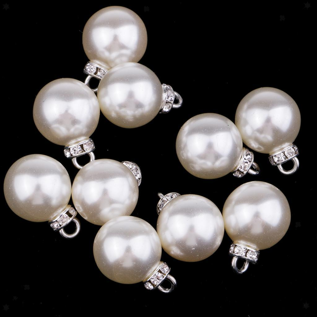 miniatura 5 - Pendenti con pendenti in perle da 10 pezzi con strass per creazione di