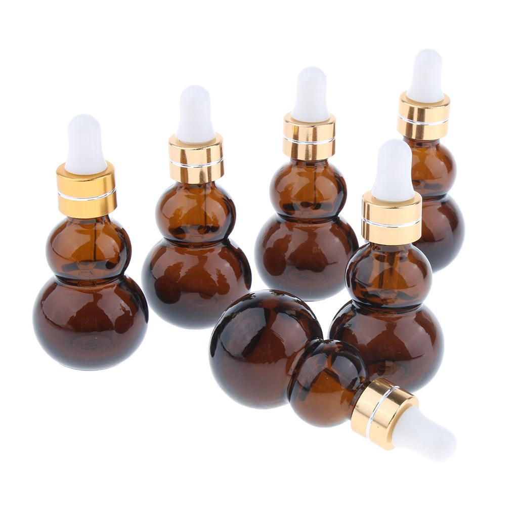 6-Pezzi-Bottiglie-Contagocce-Flacone-Olio-Essenziali-Liquido-Accessori-Vetro miniatura 4