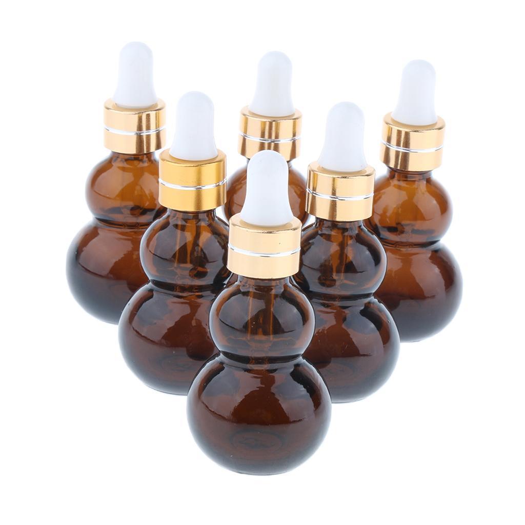 6-Pezzi-Bottiglie-Contagocce-Flacone-Olio-Essenziali-Liquido-Accessori-Vetro miniatura 6