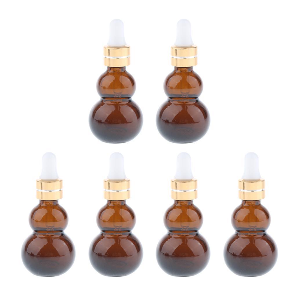 6-Pezzi-Bottiglie-Contagocce-Flacone-Olio-Essenziali-Liquido-Accessori-Vetro miniatura 3