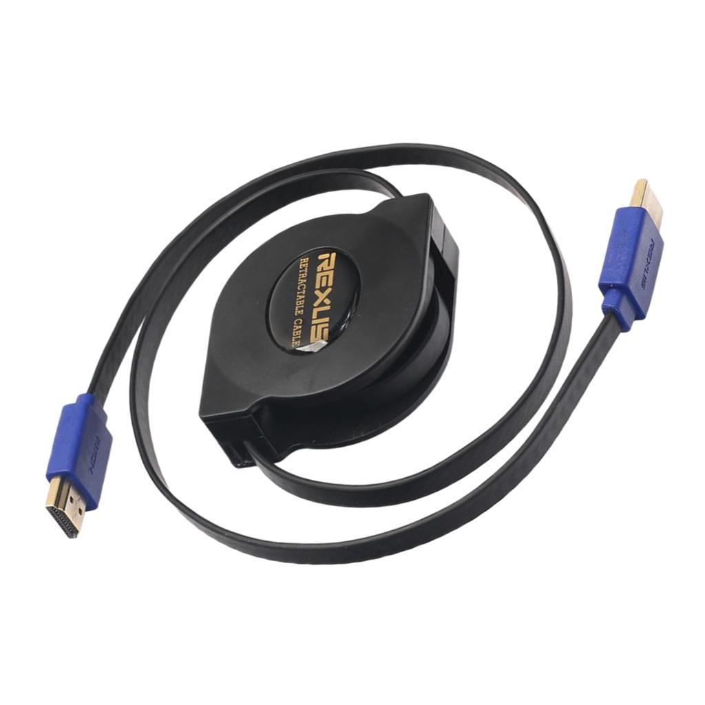 Retractable-Gold-Plated-HDMI-Cable-V1-4-High-Speed-1080p-3D-Wire-Cord thumbnail 3