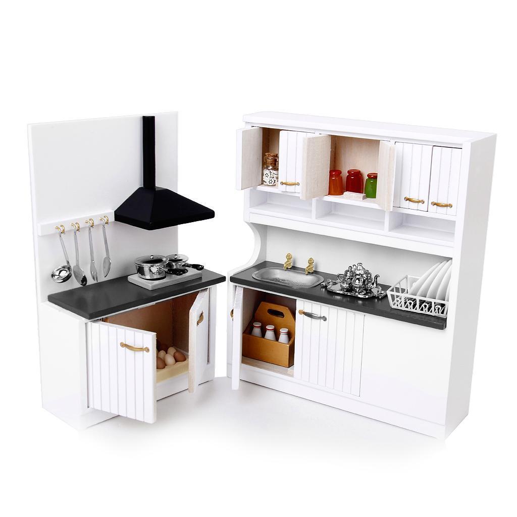 Mobilier De Cuisine Avec Table Chaise Miniature Pour 1 12 Maison