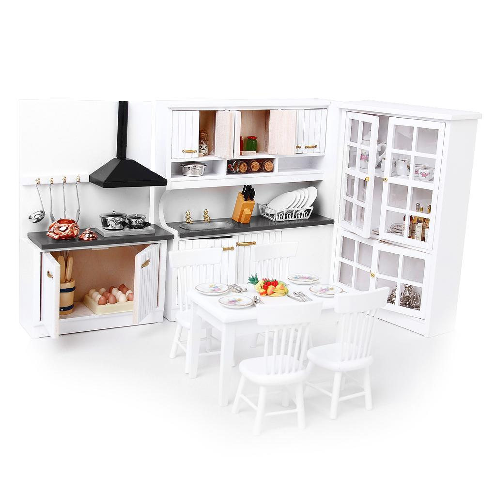One Bedroom Suite With Kitchen: 1/12th Dolls Houses Miniature Furniture Bedroom Kitchen