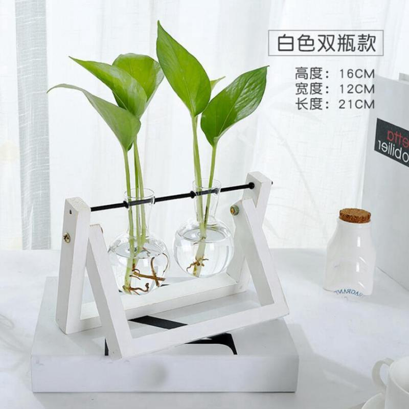 Tabletop-Hydroponic-Flower-Vase-Stands-Decorative-Wooden-Tray-with-1-2-3-Beakers thumbnail 11