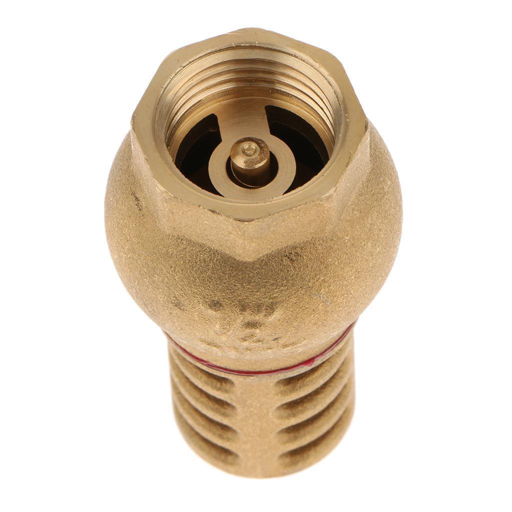 miniatura 4 - Valvola-Di-Fondo-Ottone-Massiccio-Filtro-Affidabile-Montaggio-Accessorio