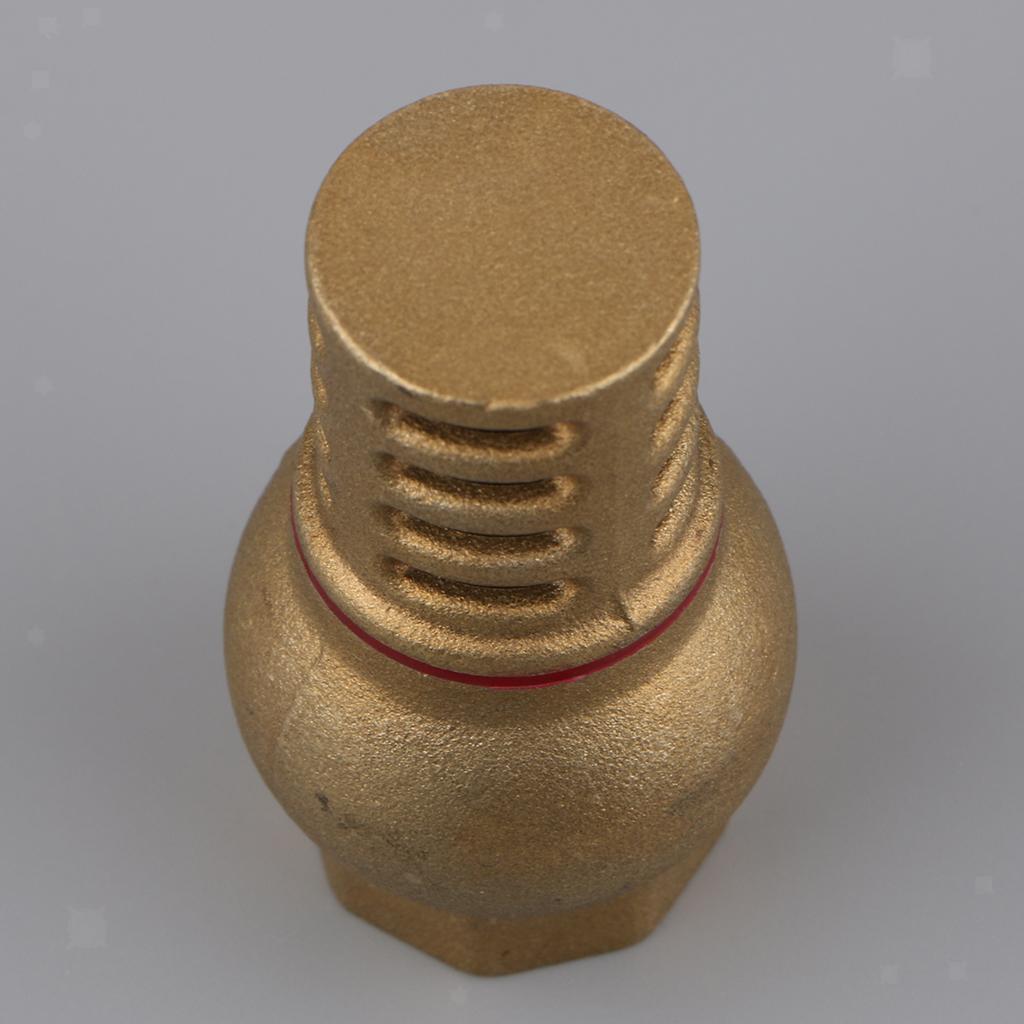 miniatura 5 - Valvola-Di-Fondo-Ottone-Massiccio-Filtro-Affidabile-Montaggio-Accessorio