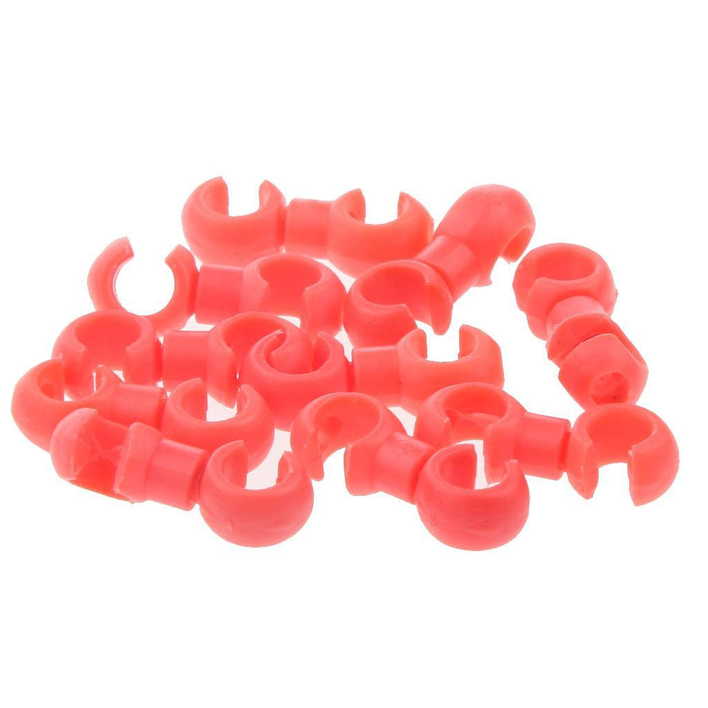 10pcs-Clips-de-Velo-VTT-Crochet-Reglable-Boucle-de-Fixation-pour-Cable-de-Frein miniature 7