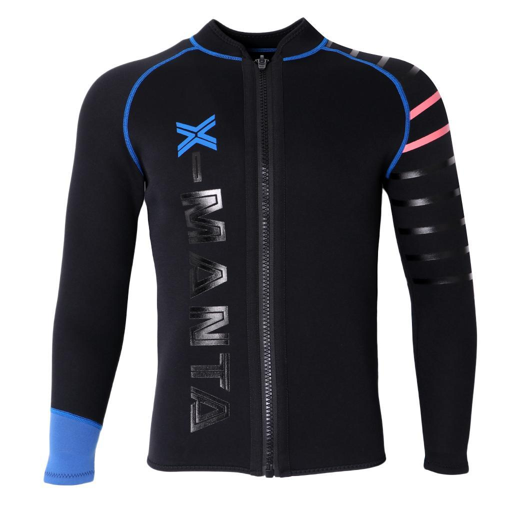 Mens-Wetsuit-Long-Sleeve-3mm-Neoprene-Wet-Suit-Surf-Scuba-Diving-Watersports thumbnail 16
