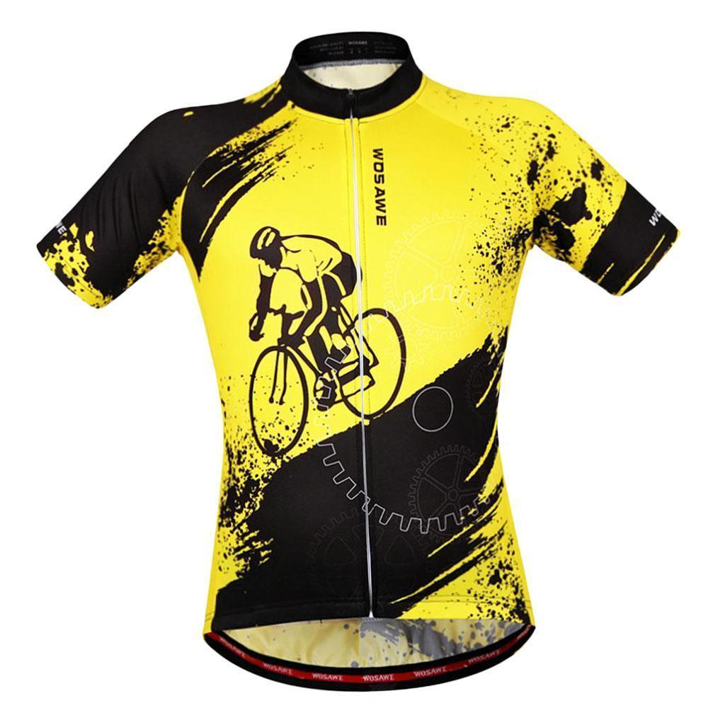 Homme-Maillots-De-Cyclisme-Velo-a-Manches-Courtes-Respirant-T-Shirt miniature 16