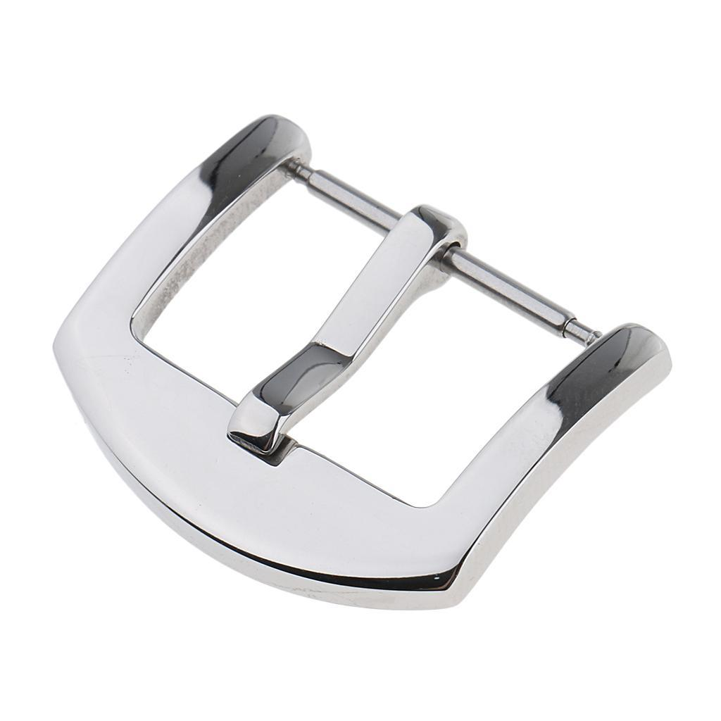 Silver-Stainless-Steel-Watch-Buckle-For-Watch-Band-Spring-Bar-Watch-Clasp thumbnail 6