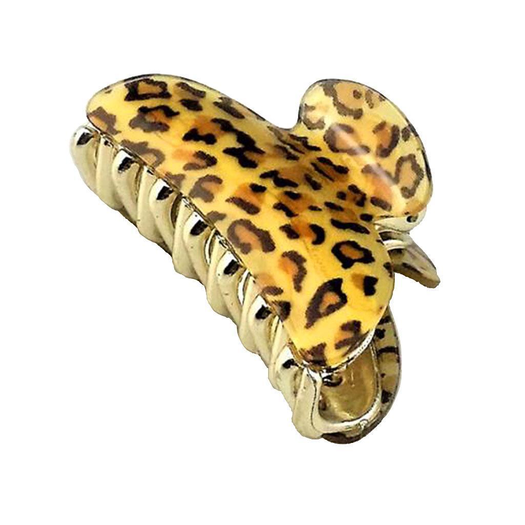 donne leopardo grande capelli artiglio presa clip pin pinze per capelli