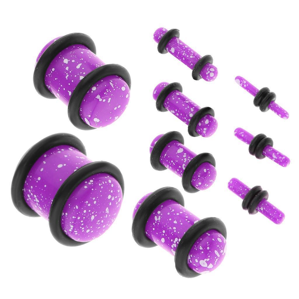 Set-18Pcs-Earplugs-Tunnel-Dilatation-Jewelry-Donna-Fashion-Fibbie miniatura 11