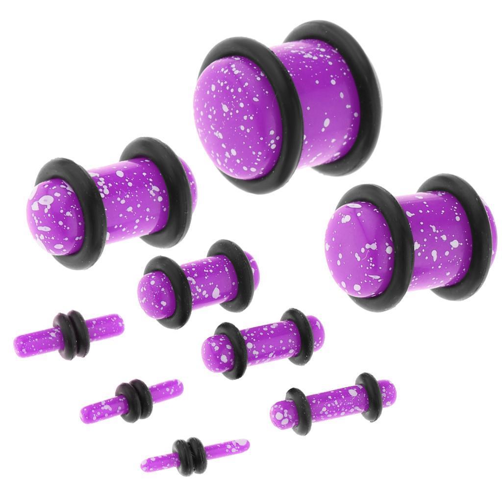 Set-18Pcs-Earplugs-Tunnel-Dilatation-Jewelry-Donna-Fashion-Fibbie miniatura 12