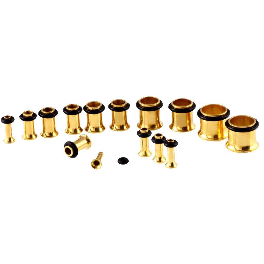 36-pezzi-Punk-Rock-Ear-Gauges-Kit-estensibile-Plugs-Espansori-Taper-14G-00G miniatura 9