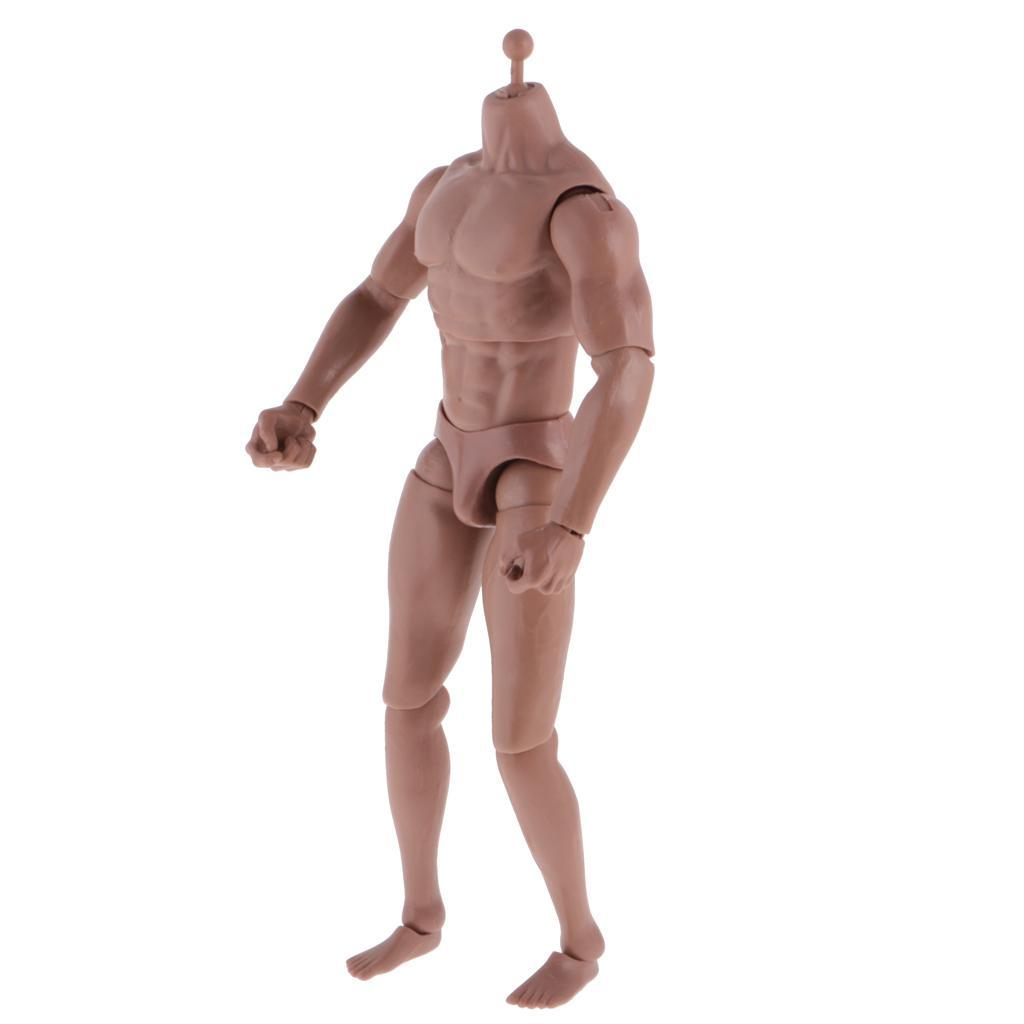 1-6th-Action-Figure-Muscular-Muscle-Male-Nude-Body-for-Hot-Toys-TTM18-TTM19-Head thumbnail 8