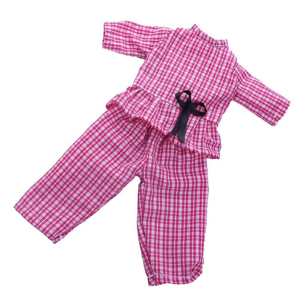 14-inch-Dolls-Lovely-Clothing-Party-Dress-Casual-Suit-for-American-Doll-Outfit thumbnail 3