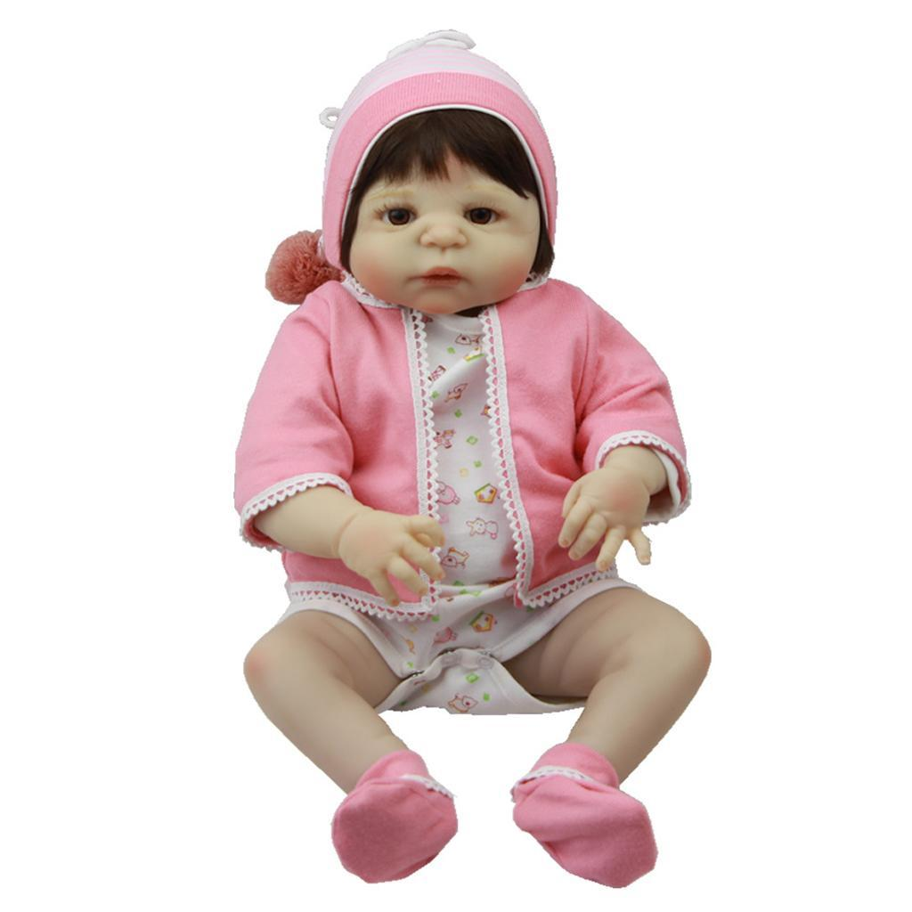Lifelike-Baby-Dolls-Romper-Clothes-Headdress-for-22-039-039-23-039-039-Reborn-Baby-Girl-Doll thumbnail 15