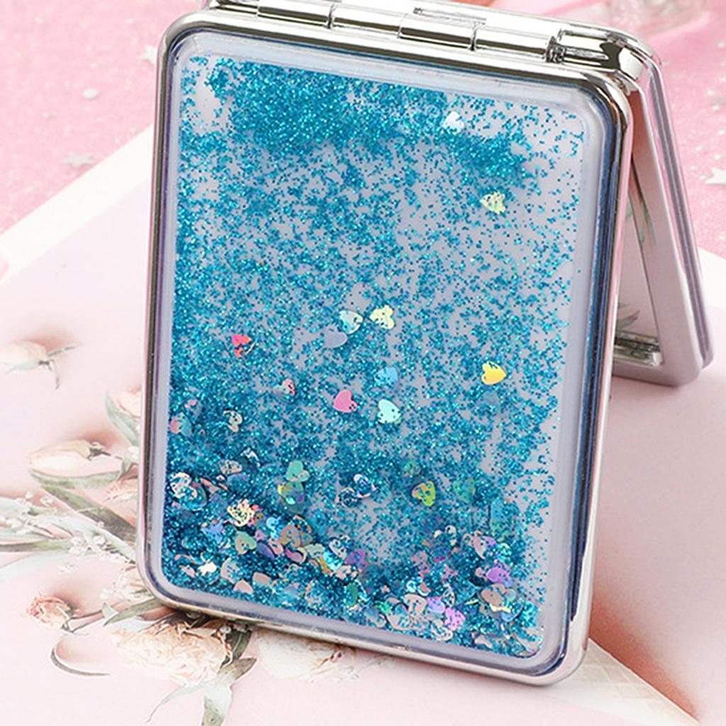 Travel 2 Side Folding Pocket Size Makeup Mirror With