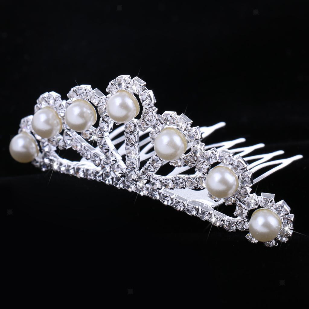 Princess-Crystal-Mini-Hair-Crown-Tiara-Hair-Comb-Girls-Woman-Wedding-Party-Gift thumbnail 62