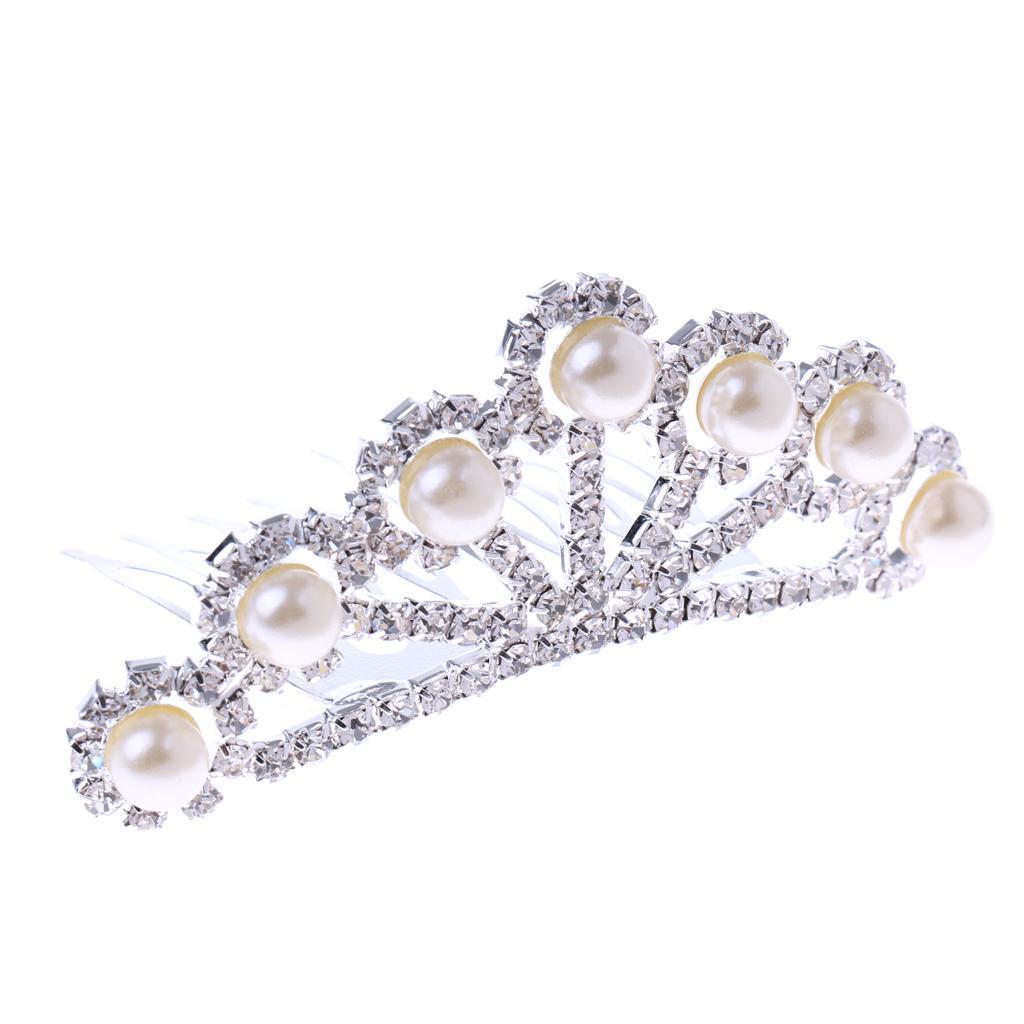 Princess-Crystal-Mini-Hair-Crown-Tiara-Hair-Comb-Girls-Woman-Wedding-Party-Gift thumbnail 63