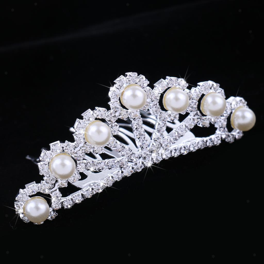 Crystal-Mini-Crown-Tiara-Girls-Woman-Fancy-Dress-Hair-Comb-Wedding-Party-Gift thumbnail 21