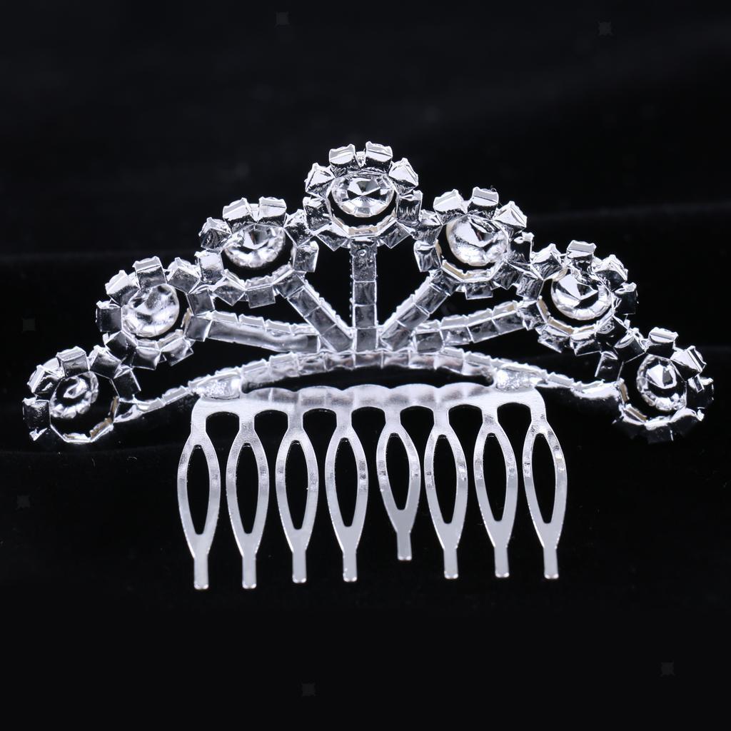 Princess-Crystal-Mini-Hair-Crown-Tiara-Hair-Comb-Girls-Woman-Wedding-Party-Gift thumbnail 65