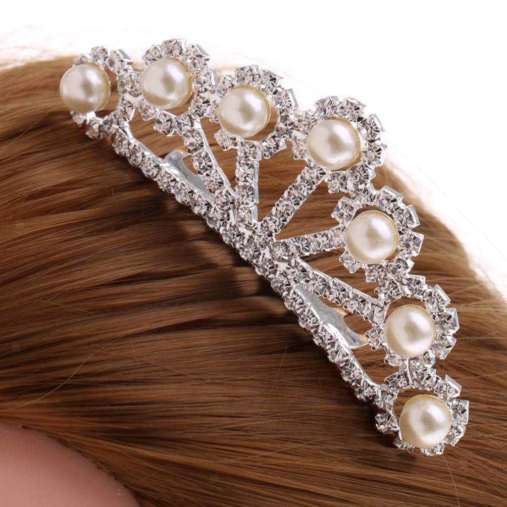 Princess-Crystal-Mini-Hair-Crown-Tiara-Hair-Comb-Girls-Woman-Wedding-Party-Gift thumbnail 60