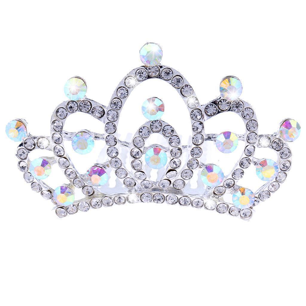 Princess-Crystal-Mini-Hair-Crown-Tiara-Hair-Comb-Girls-Woman-Wedding-Party-Gift thumbnail 13