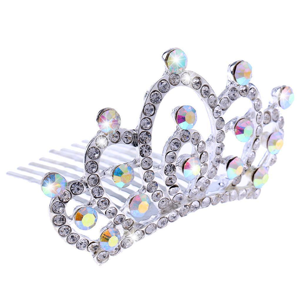 Princess-Crystal-Mini-Hair-Crown-Tiara-Hair-Comb-Girls-Woman-Wedding-Party-Gift thumbnail 14