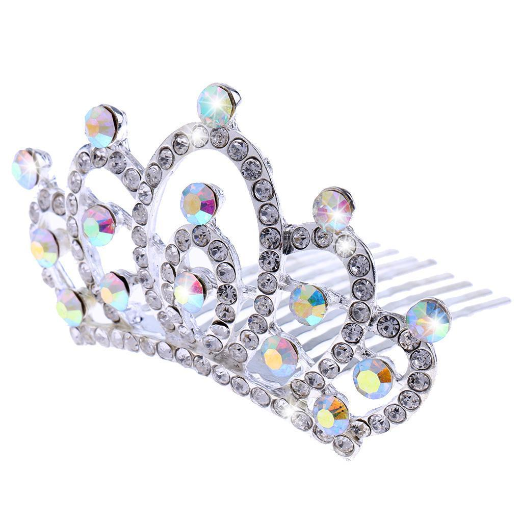 Princess-Crystal-Mini-Hair-Crown-Tiara-Hair-Comb-Girls-Woman-Wedding-Party-Gift thumbnail 15