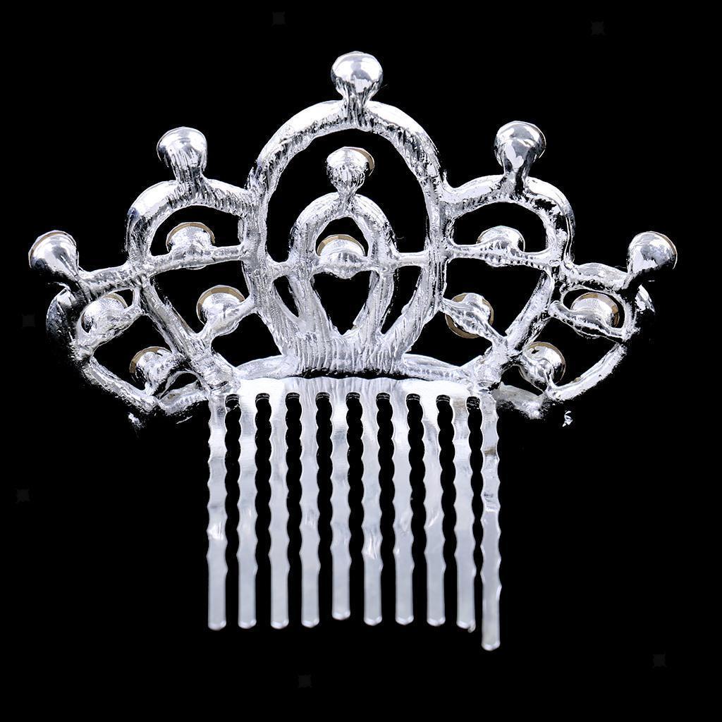 Princess-Crystal-Mini-Hair-Crown-Tiara-Hair-Comb-Girls-Woman-Wedding-Party-Gift thumbnail 16