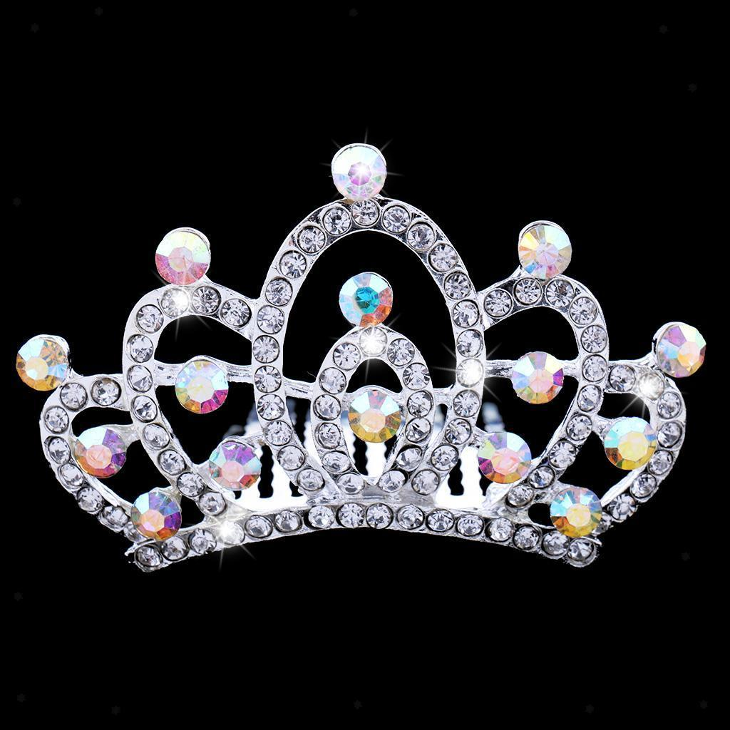 Crystal-Mini-Crown-Tiara-Girls-Woman-Fancy-Dress-Hair-Comb-Wedding-Party-Gift thumbnail 6