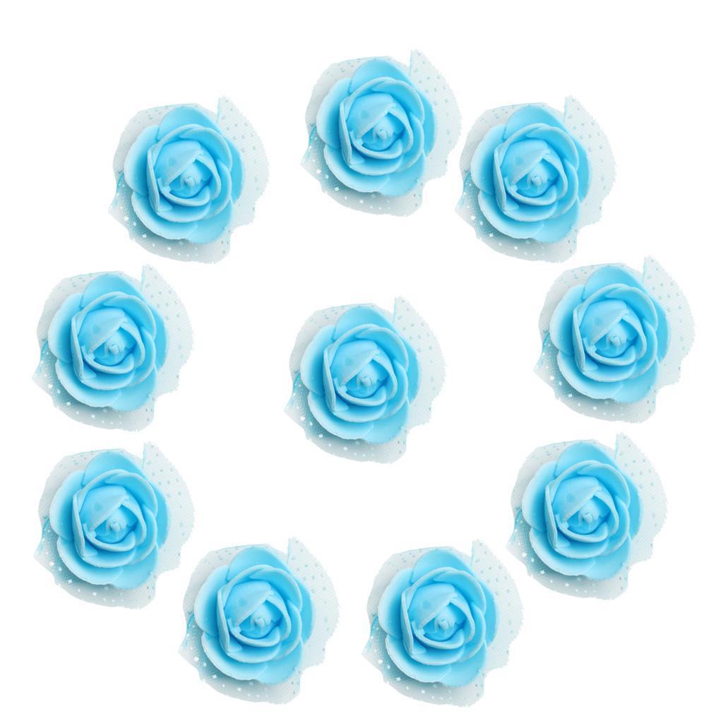 100-Pieces-Romantique-Mousse-Artificielle-Rose-Tete-Fleurs-De-Mariage miniature 26