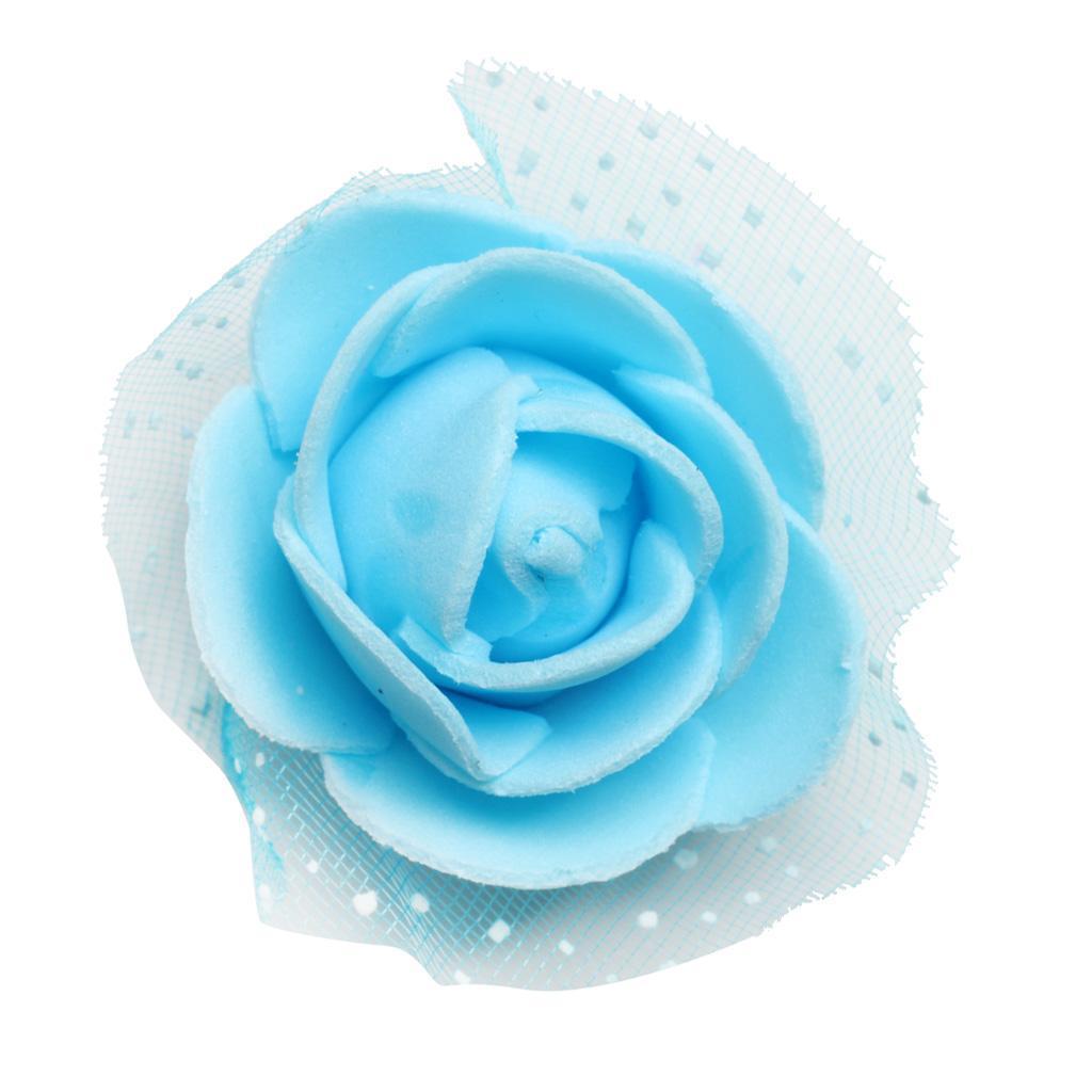 100-Pieces-Romantique-Mousse-Artificielle-Rose-Tete-Fleurs-De-Mariage miniature 25