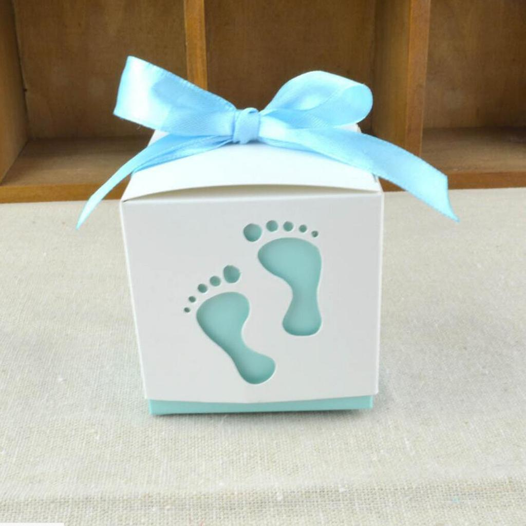 50pcs-Cute-Baby-Footprints-Square-Candy-Boxes-Baby-Shower-Birthday-Gift-Favor thumbnail 7