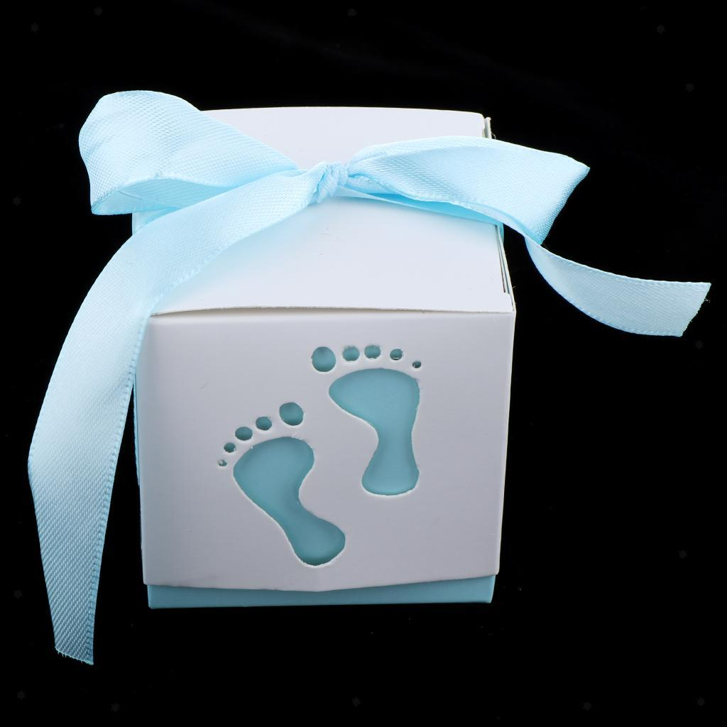 50pcs-Newborn-Baby-Footprints-Candy-Boxes-Baby-Shower-Christening-Party-Favor thumbnail 6