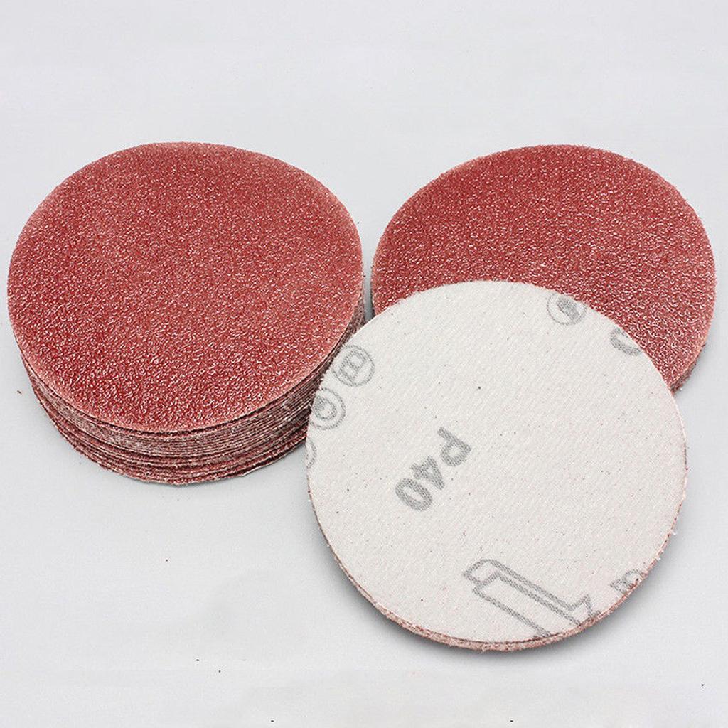 20pc 3inch Sanding Disc Sand Paper Hook Loop Sander Polishing Pads 40-2000 Grit P1000