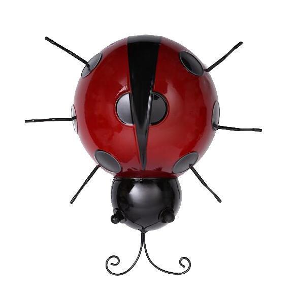 Metal-Ladybug-Garden-Decoration-Wall-Hanging-Sculpture-Figure-Hanger-Decor thumbnail 6