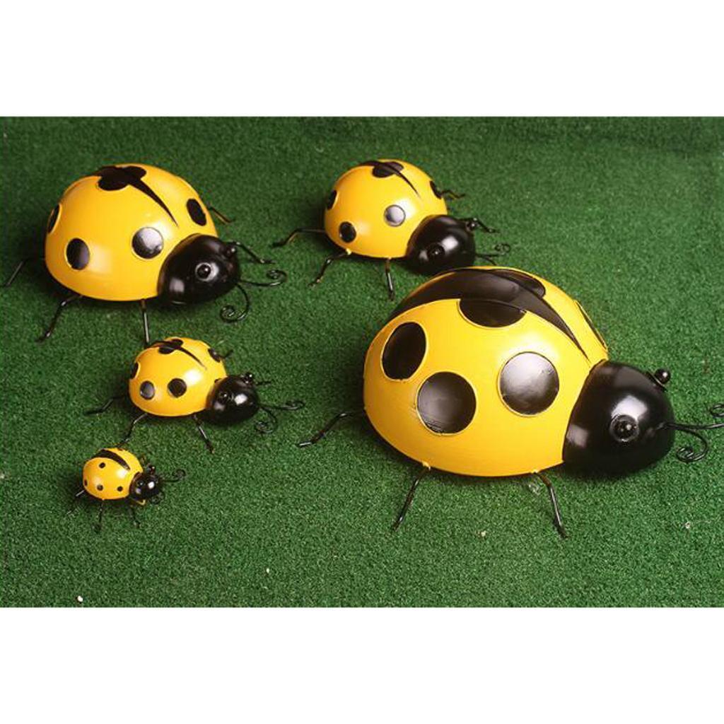 Metal-Ladybug-Garden-Decoration-Wall-Hanging-Sculpture-Figure-Hanger-Decor thumbnail 15