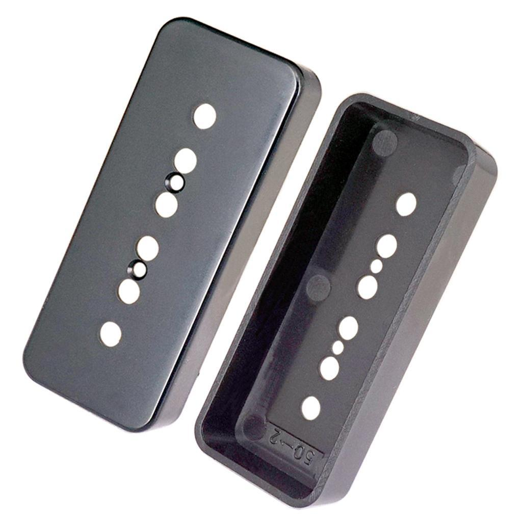 Set-of-2x-P90-Sopabar-Pickup-Covers-Single-Coil-for-Gibson-LP-Guitar-Parts thumbnail 9