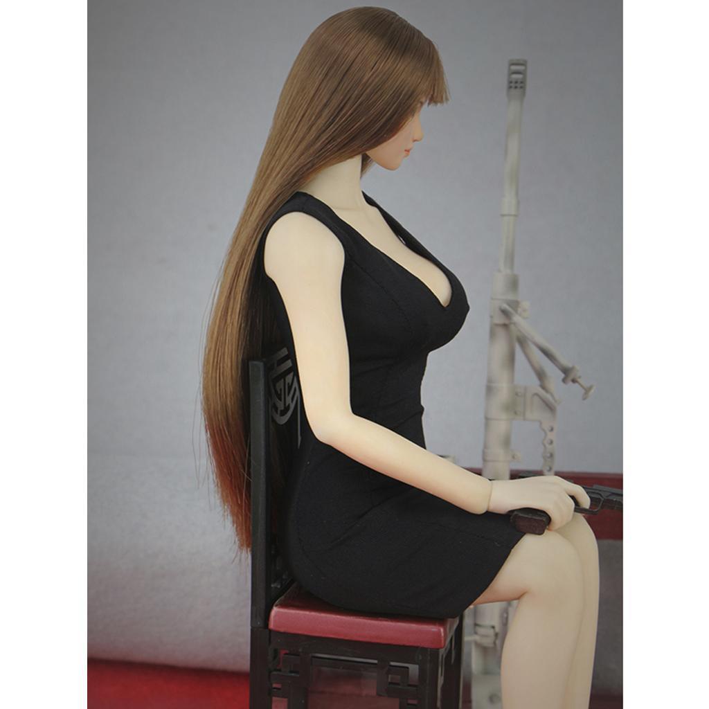 1-6-Femmes-sans-manches-Robe-moulante-pour-12-in-environ-30-48-cm-Phicen-Kumik-CY-CG-Hot-Toys miniature 3