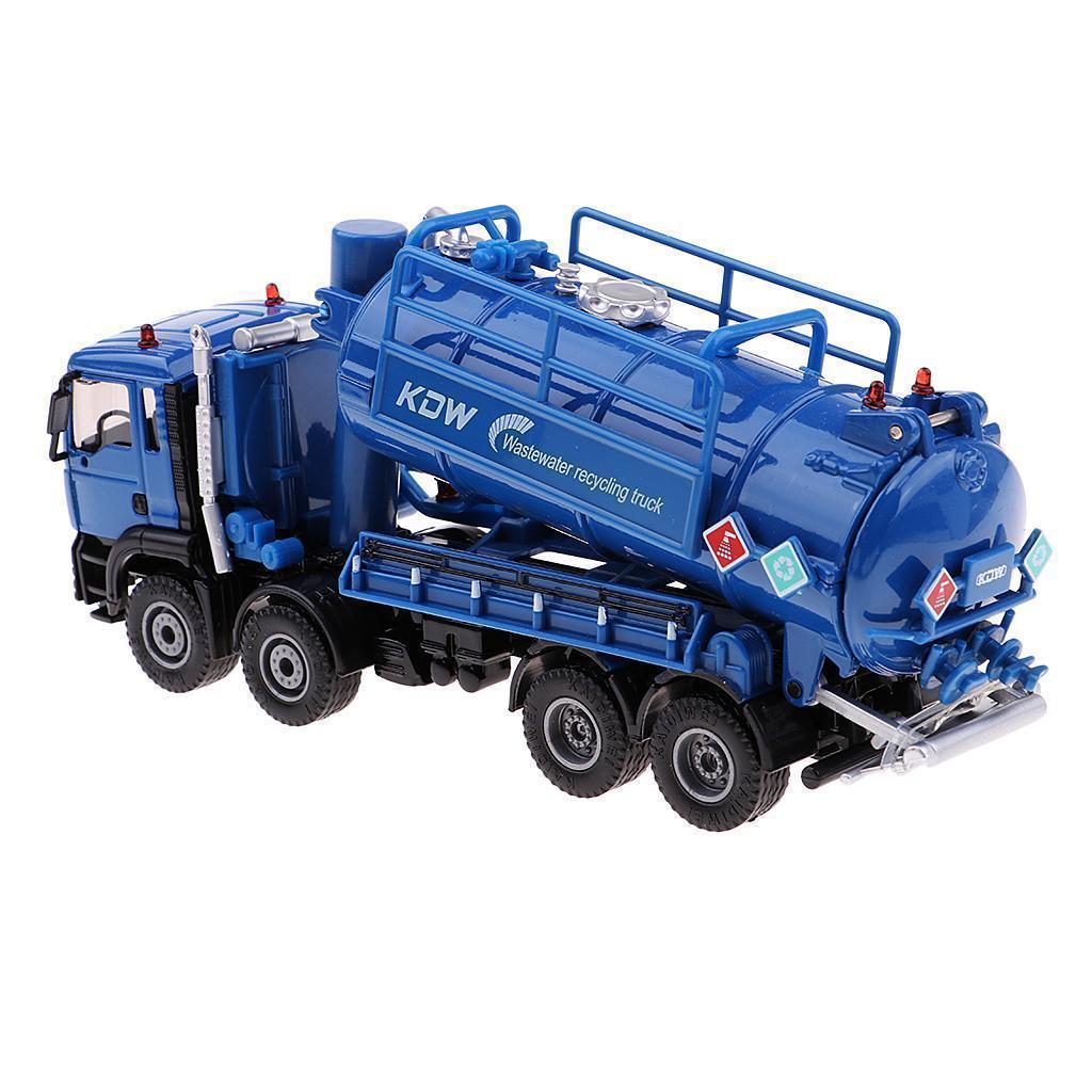 1-50-Camion-a-Ordures-Miniature-Petites-Voitures-en-Alliage-Cadeau-pour miniature 5