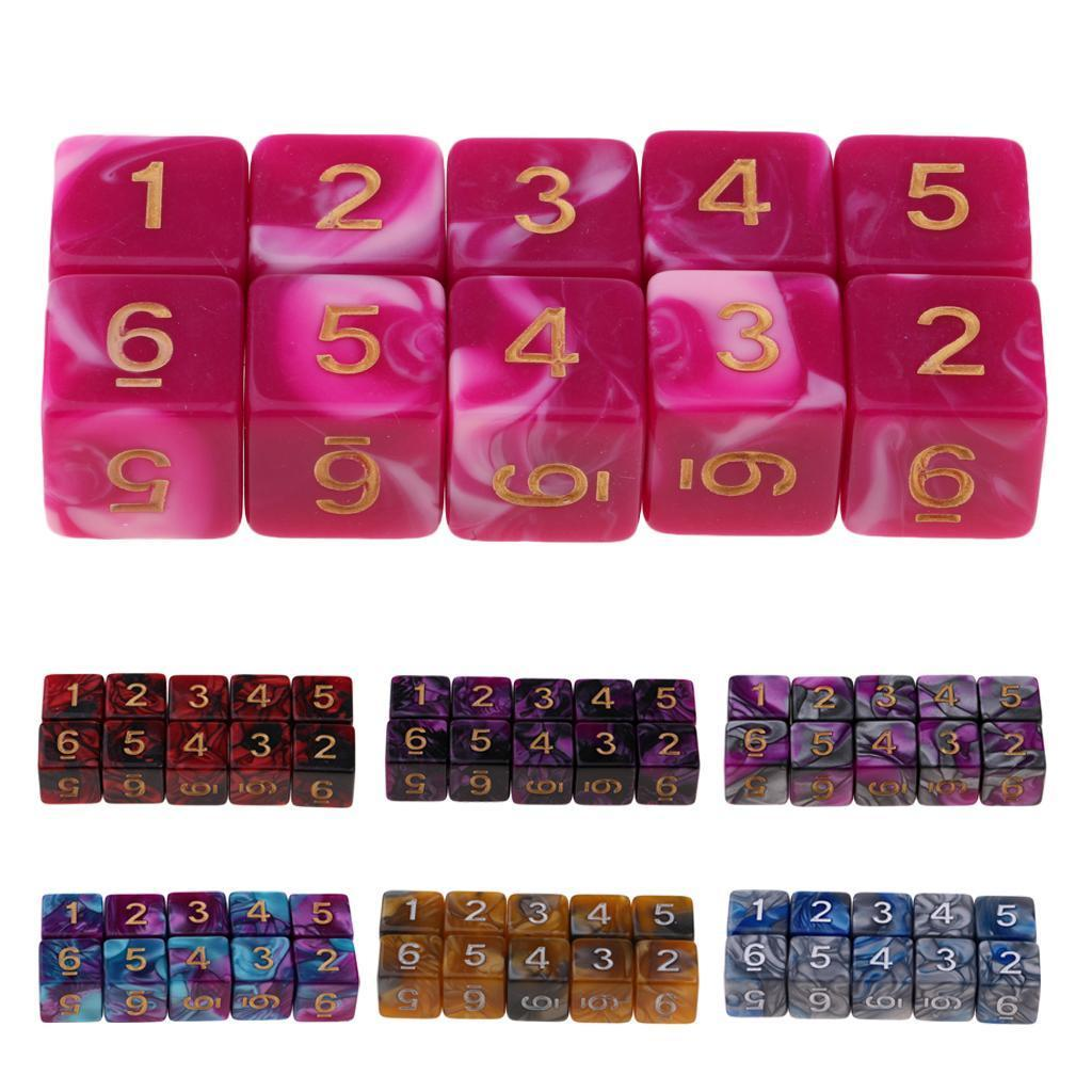 10pcs-D6-16mm-Dice-for-Friends-Family-Travel-Board-Games-Gifts thumbnail 3