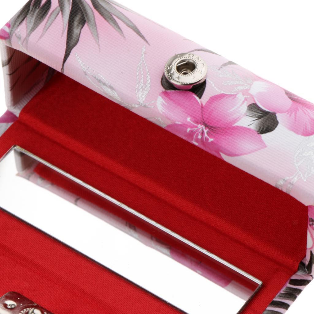 Custodia-in-pelle-per-rossetto-Borsa-per-organizer-per-borsa-Porta miniatura 7
