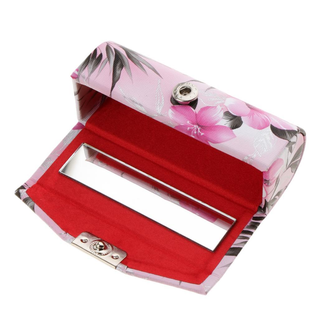 Custodia-in-pelle-per-rossetto-Borsa-per-organizer-per-borsa-Porta miniatura 9