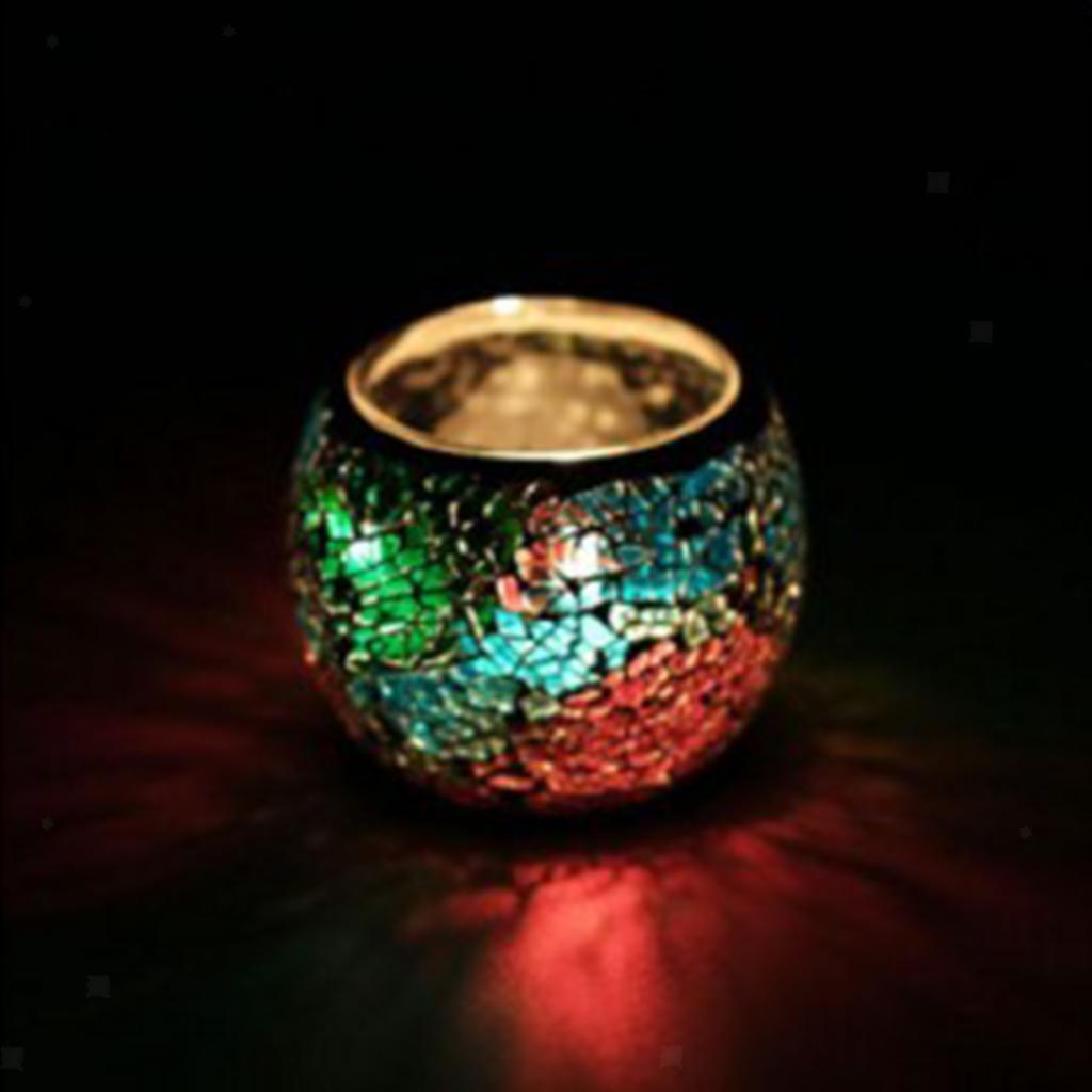Assorted-Moroccan-Mosaic-Glass-Votive-Candle-Tea-Light-Candelabra-Candlestick thumbnail 26