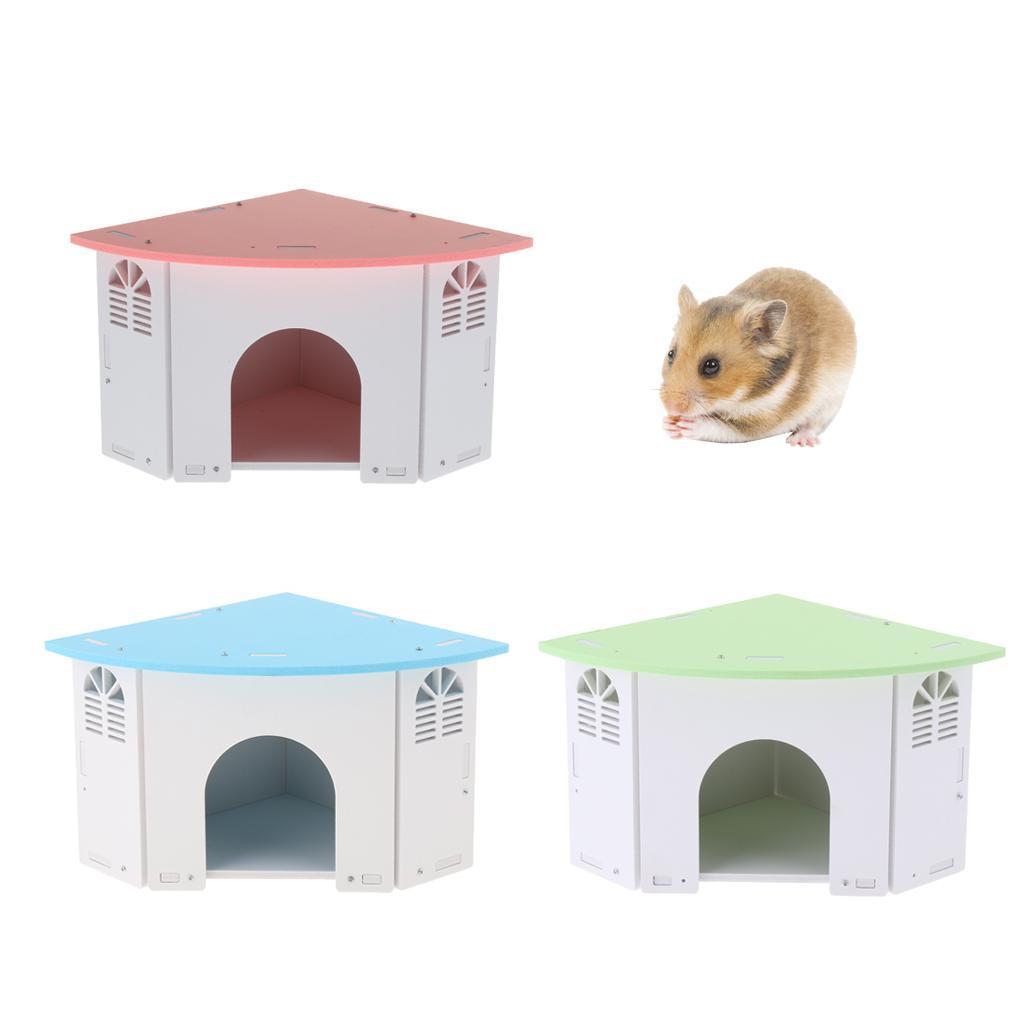 Cute-Hamster-House-Cage-for-Rat-Mouse-Nest-Net-Villa-FOR-Rat-Sleep-Rest miniature 4