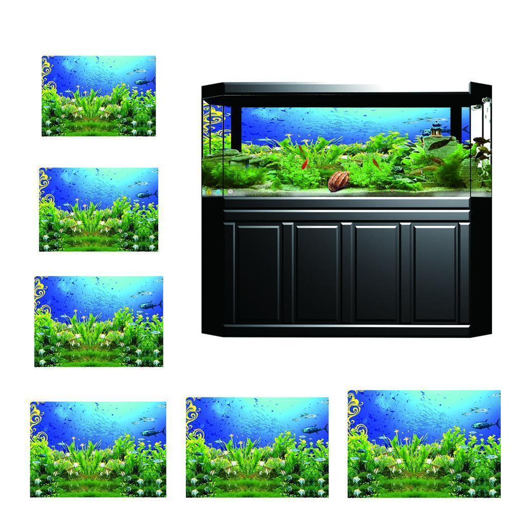 3D One-Sided Adhesive Aquarium Background Tank Terrarium ...